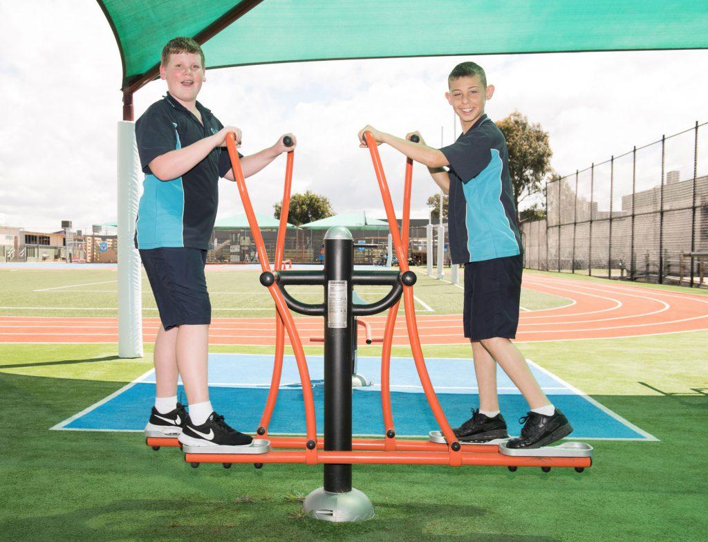 Students enjoy sports facilities